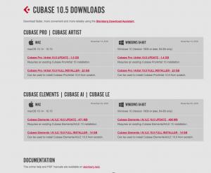 Cubase Downloads online