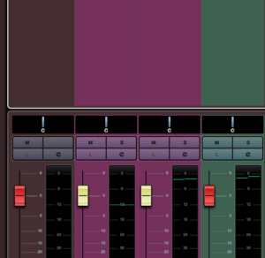 Färglägg mixerkanaler i Cubase 10.5