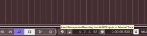 Retrospective Recording i Cubase 10.5
